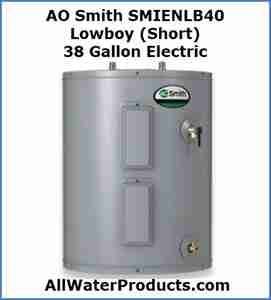 AO Smith SMIENLB40 Lowboy (Short) 38 Gallon Electric AllWaterProducts.com