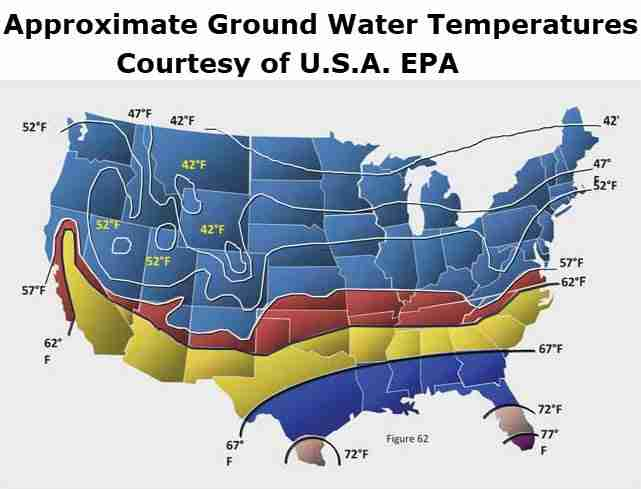 Approximate Ground Water Temperatures U.S.A. EPA