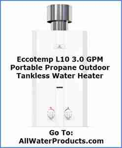 Eccotemp L10 3.0 GPM Portable Propane Outdoor Tankless Water Heater. AllWaterProducts.com