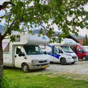 RVs in an RV park