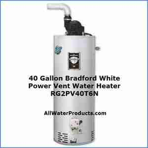 40 Gallon Bradford White Power Vent Water Heater RG2PV40T6N AllWaterProducts.com