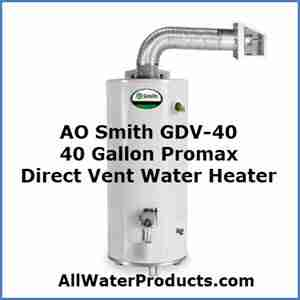 AO Smith GDV-40 40 Gallon Promax Direct Vent Water Heater AllWaterProducts.com