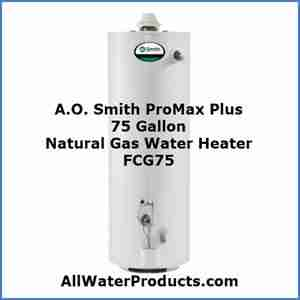 A.O. Smith ProMax Plus 75 Gallon Natural Gas Water Heater FCG75 AllWaterProducts.com