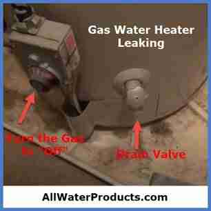 Gas water heater leaking. AllWaterProducts.com