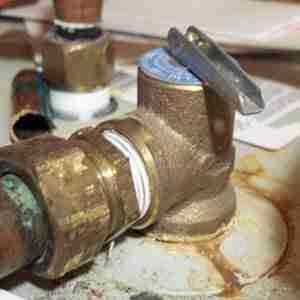 Hot water heater pressure relief valve leaking. AllWaterProducts.com